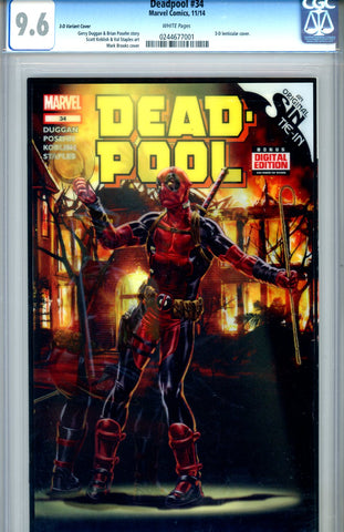 Deadpool #34  CGC graded 9.6 - Variant Edition - (3-D) cover SOLD!