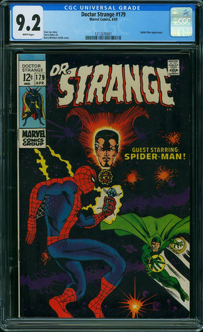 Doctor Strange #179  CGC graded 9.2 B.W.S. cover - SOLD!