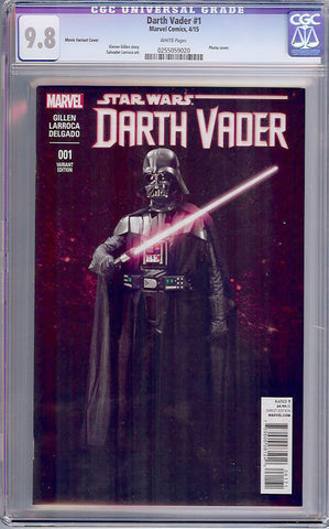 Darth Vader #1  CGC graded 9.8 - Movie Cover - HG - SOLD!