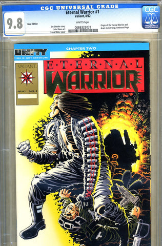 Eternal Warrior #1  CGC graded 9.8 -HIGHEST GRADED-  Gold Edition