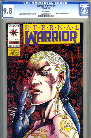 Eternal Warrior #6  CGC graded 9.8  -HIGHEST GRADED SOLD!