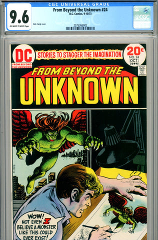 From Beyond the Unknown #24 CGC graded 9.6  HG - SOLD!