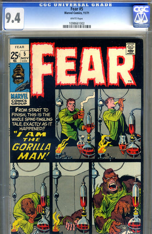 Fear #5  CGC graded 9.4 - white pages - SOLD!