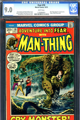 Fear #10 CGC graded 9.0 - first solo Man-Thing series