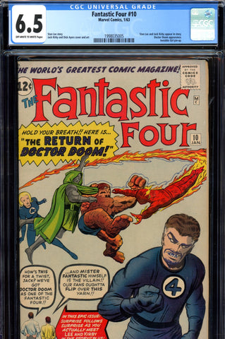 Fantastic Four #010 CGC graded 6.5 - third Doctor Doom SEE NOTES