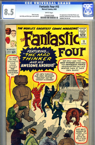 Fantastic Four #15   CGC graded 8.5 - SOLD