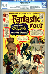 Fantastic Four #015   CGC graded 9.0  first Mad Thinker