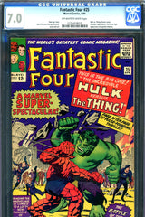 Fantastic Four #025 CGC graded 7.0  second S.A. Captain America