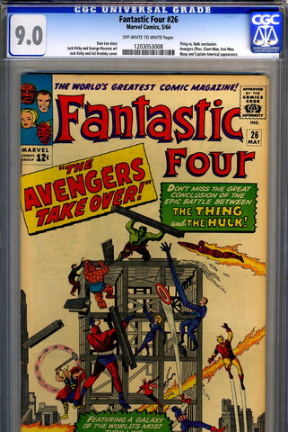 Fantastic Four #026  CGC graded 9.0 SOLD!
