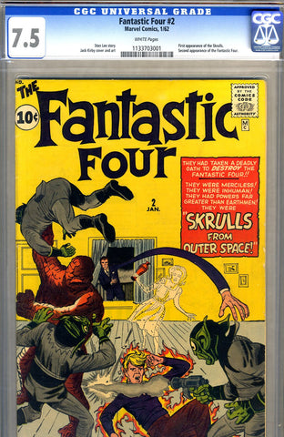 Fantastic Four #02   CGC graded 7.5 - SOLD