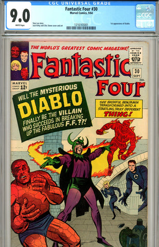 Fantastic Four #030 CGC graded 9.0 first appearance of Diablo SOLD!