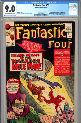 Fantastic Four #031 CGC graded 9.0 - first Dr. Franklin Storm