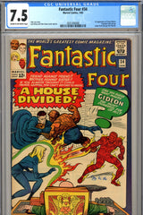 Fantastic Four #034 CGC graded 7.5  first Greg Gideon