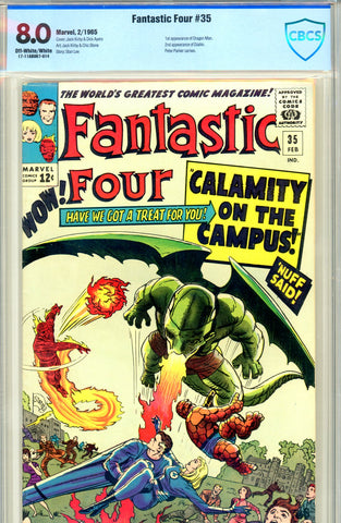 Fantastic Four #035 CBCS graded 8.0  first Dragon Man SOLD!