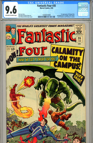 Fantastic Four #035 CGC graded 9.6  first Dragon Man