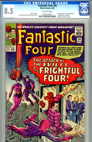 Fantastic Four #036   CGC graded 8.5  first Medusa