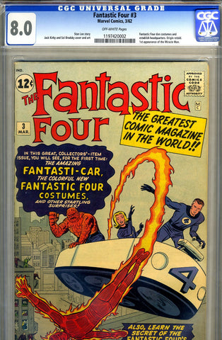 Fantastic Four #03   CGC graded 8.0 - SOLD!