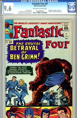 Fantastic Four #041   CGC graded 9.6 - SOLD!