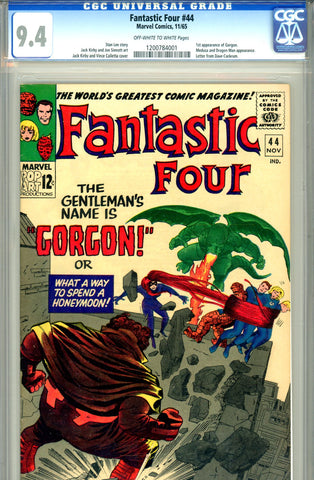 Fantastic Four #044   CGC graded 9.4 first Gorgon - SOLD!