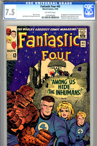Fantastic Four #045 CGC graded 7.5 - first Inhumans SOLD!