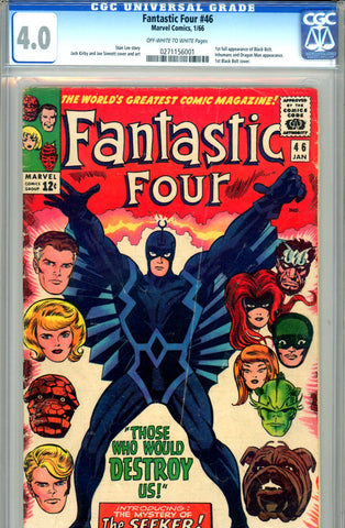 Fantastic Four #046   CGC graded 4.0  first full app of Black Bolt