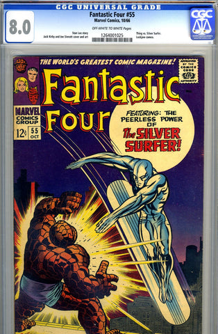 Fantastic Four #55   CGC graded 8.0 - SOLD!