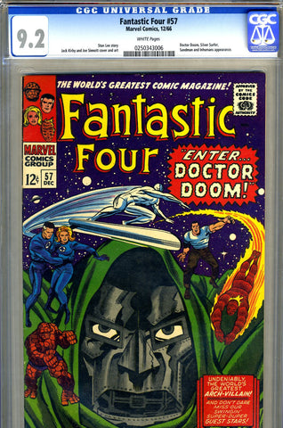 Fantastic Four #57  CGC graded 9.2 - white pages - SOLD!