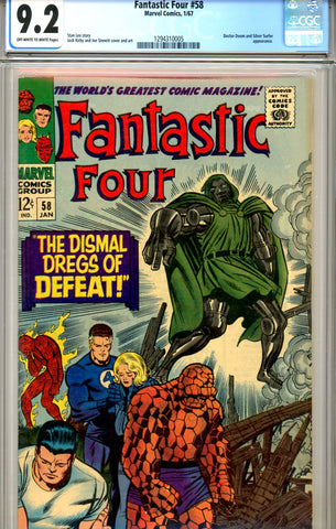 Fantastic Four #058 CGC graded 9.2 Doctor Doom SOLD!