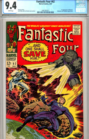 Fantastic Four #062   CGC graded 9.4 WP first Blastaar SOLD!