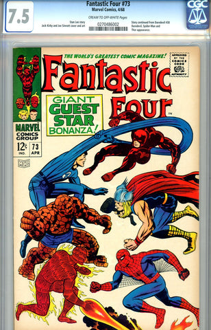 Fantastic Four #073  CGC graded 7.5 - SOLD!