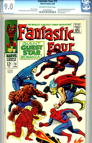 Fantastic Four #073 CGC graded 9.0 SOLD!
