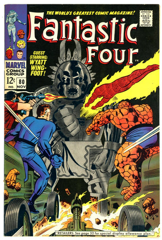 Fantastic Four #080 VERY FINE+ 1968