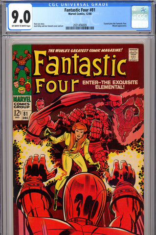 Fantastic Four #081 CGC graded 9.0 SOLD!