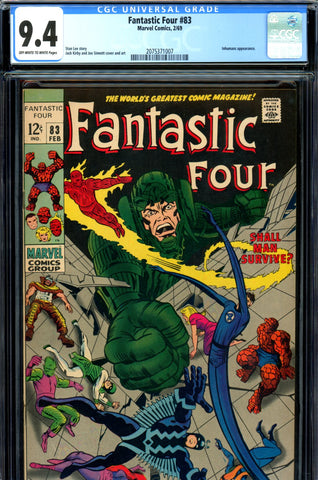 Fantastic Four #083 CGC graded 9.4 - Inhumans appearance SOLD!