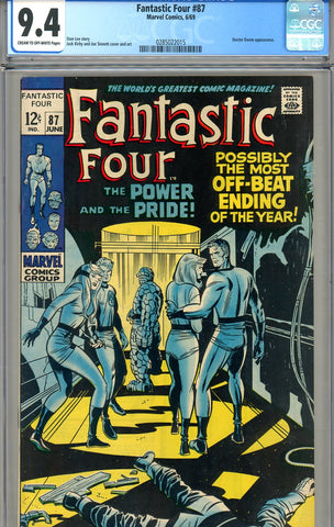 Fantastic Four #087   CGC graded 9.4 - SOLD!