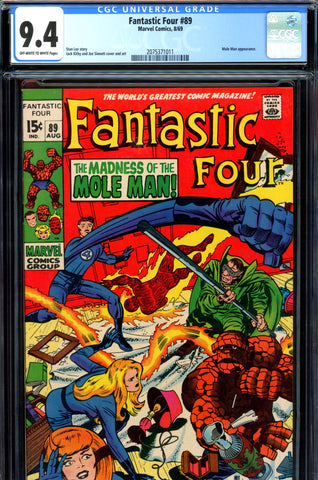 Fantastic Four #089 CGC graded 9.4 - Mole Man cover/story