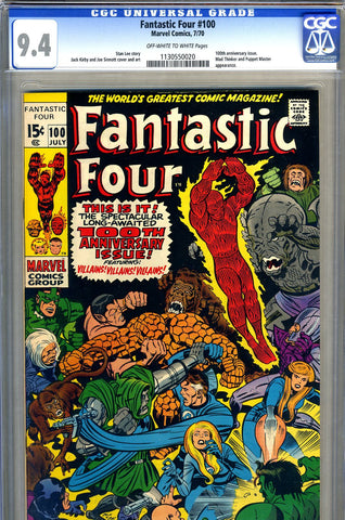 Fantastic Four #100   CGC graded 9.4 SOLD!
