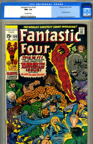 Fantastic Four #100   CGC graded 9.6 SOLD!