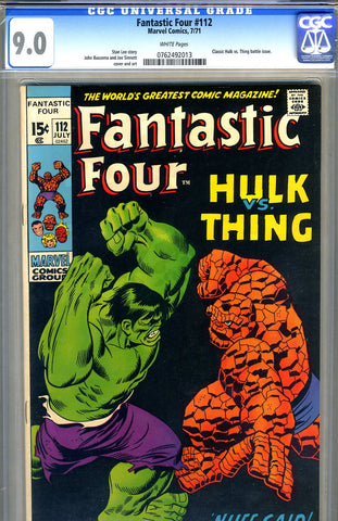 Fantastic Four #112   CGC graded 9.0 - SOLD