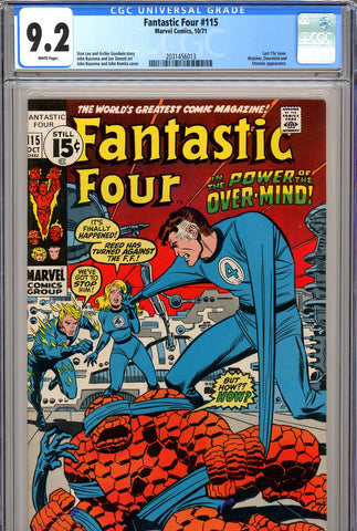 Fantastic Four #115 CGC graded 9.2 white pages SOLD!