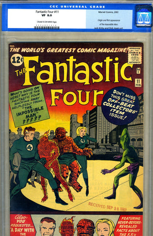 Fantastic Four #11   CGC graded 8.0 - SOLD!