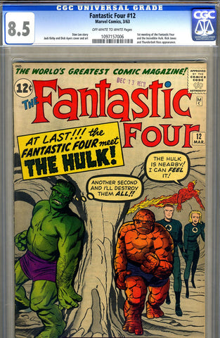 Fantastic Four #12   CGC graded 8.5 - SOLD