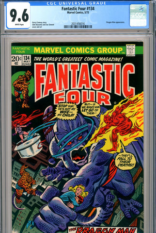 Fantastic Four #134 CGC graded 9.6 white pages SOLD!