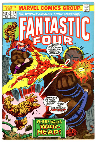 Fantastic Four #137   VERY FINE   1973
