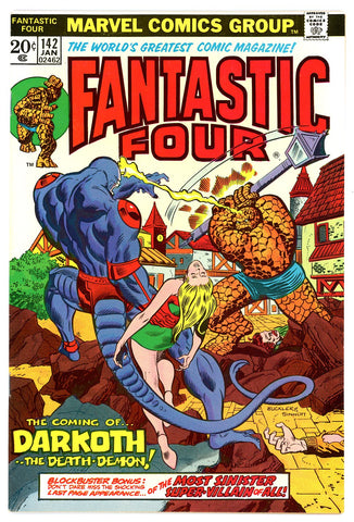 Fantastic Four #142  VF/NEAR MINT   1974