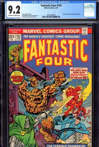 Fantastic Four #143 CGC graded 9.2 Doctor Doom c/s SOLD!