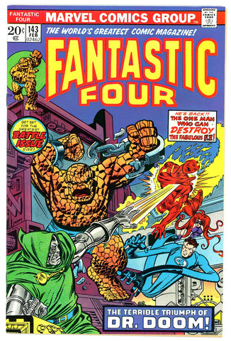Fantastic Four #143 NEAR MINT-  1974 Doctor Doom c/s