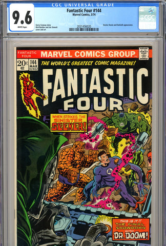 Fantastic Four #144 CGC graded 9.6  white pages SOLD!