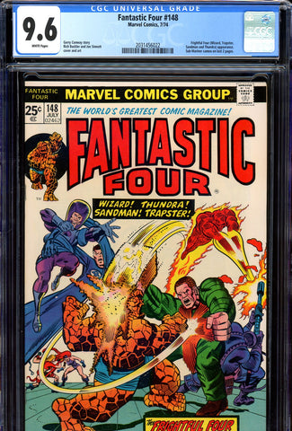 Fantastic Four #148 CGC graded 9.6  white pages - SOLD!
