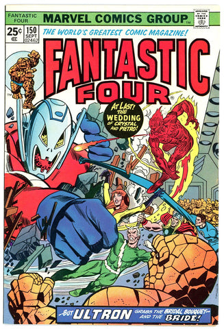 Fantastic Four #150 VERY FINE  1974 wedding
